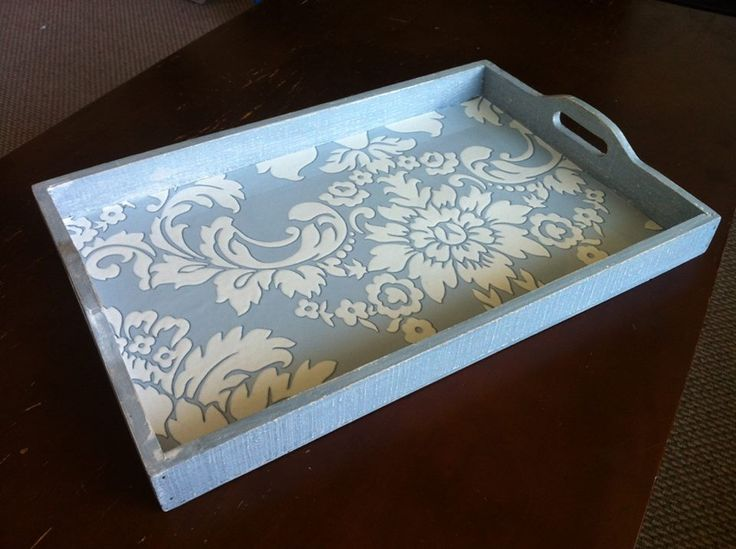 Upcycled French country breakfast tray.