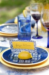 There's nothing better on a warm day than some refreshing lemonade!  #preppy #virginia #wedding #lemon #azure #colorscheme #fruit #homemade #seatingassignments