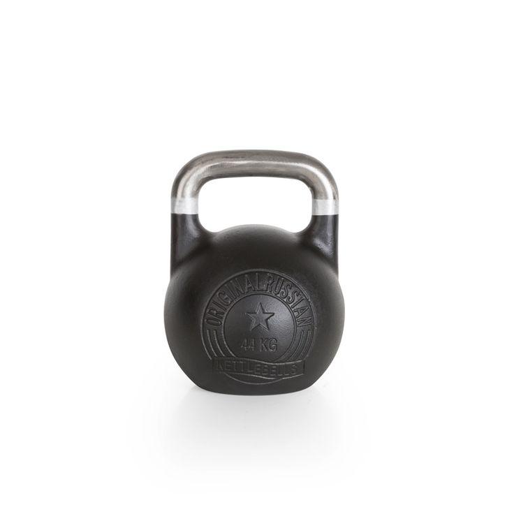 Original Russian Kettlebells - Competition - Wettkampfkettlebell 44 kg. Die Competition-Kettlebell ist besonders robust und langlebig. Der blanke, unlackierte Griff mit Farb-banding ist glatt geschliffen und gewährt ein professionelles und sicheres Handling. Details hier:: http://www.megafitness-shop.info/Kraftsport/Hanteln-Gewichte/Kettlebells/KB-Professional/Original-Russian-Kettlebell-Competition-8-48-kg--1670.html #kettlebell #kugelhantel