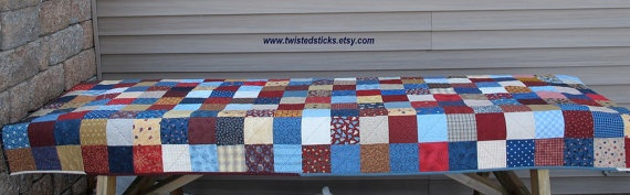 Patchwork Picnic Tablecloth Quilted Tablecloth by twistedsticks,Patchwork Picnics, Picnics Quilt, Beautiful Quilt, Tablecloth Quilt, Picnics Tablecloth, Quilt Tablecloth