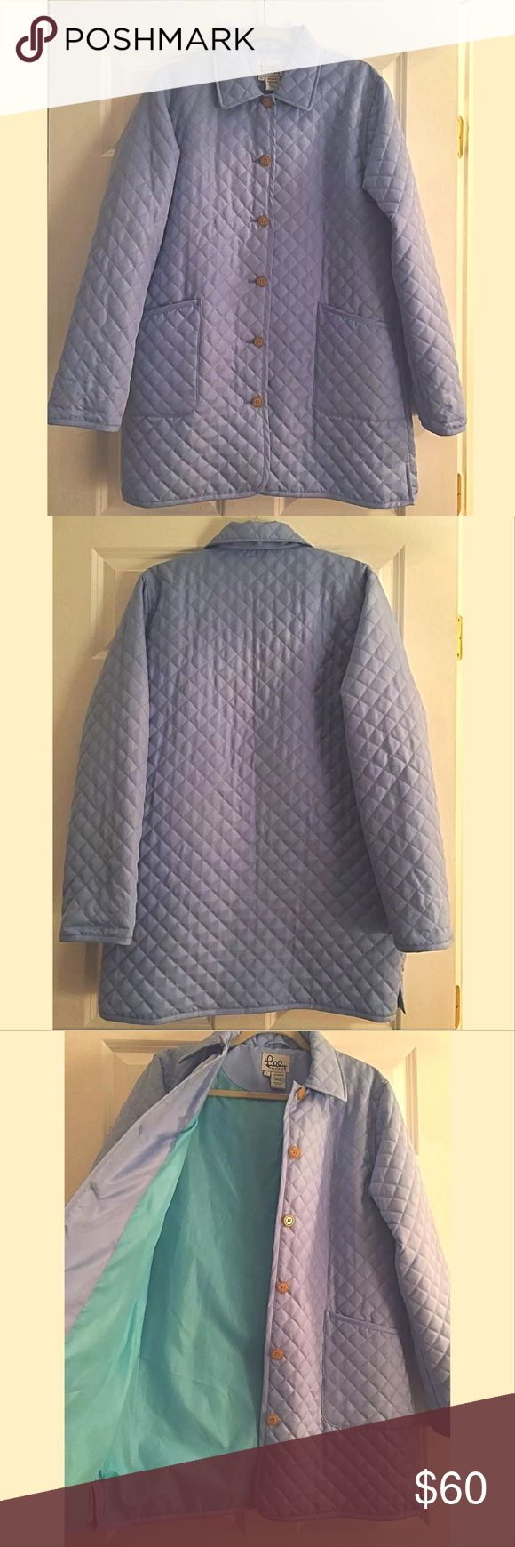 """Lilly Pulitzer Powder Blue Quilted Jacket Lilly Pulitzer quilted coat. Lovely powder blue color. Pristine condition. Absolutely no signs of wear. Size L. Bust armpit to armpit 22"""", Length shoulder to hemline 33"""", Sleeve shoulder to cuff 26"""". Lilly Pulitzer Jackets & Coats Puffers"""