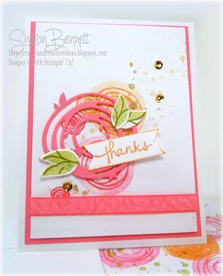 Swirly Bird Stamp Set and Swirly Scribbles Thinlits Dies Bundle. DOstamper Thursday DSC#181. Directions and supply list on my blog @ http://craftyandcreativeideas.blogspot.com/2016/05/sneek-peek-swirly-bird-and-swirly.html