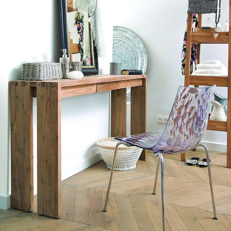 Консольный стол из массива тика с небольшим ящиком, возможна вариация с полкой. Два размера - 120 и 140 см. Материал: Дерево. Бренд: Teak House. Стили: Лофт, Скандинавский и минимализм. Цвета: Коричневый.
