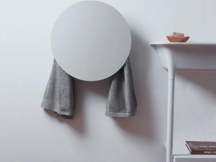 If your idea of a towel warmer is a big, metal rack or a radiator-esque appliance, check out this European revamp. Made to harmonize with their surroundings, MG12's warmers look like pop wall art; add a laser-cut metal cover for modern Scandinavian style.