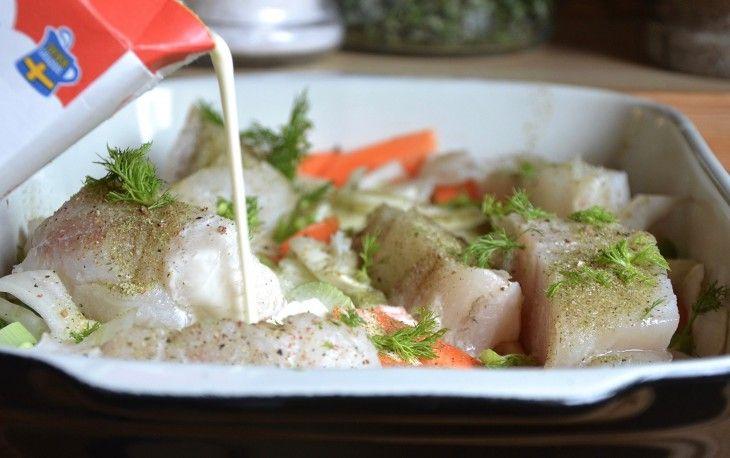Torsk med morot och fänkål  Fantastiskt god och enkel fiskgratäng!