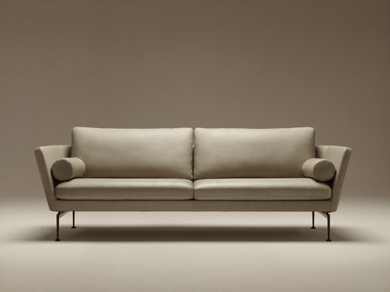 Vitra Suita-Sofa --nicer in wool felt but lovely lines; feet are either stainless or black finish