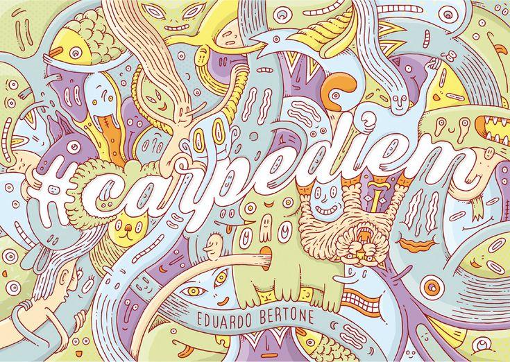Eduardo Bertone #carpediem  illustrateur, agence Marie Bastille // cette image appartient à son auteur et/ou l'agence Marie Bastille + d'infos sur le site //