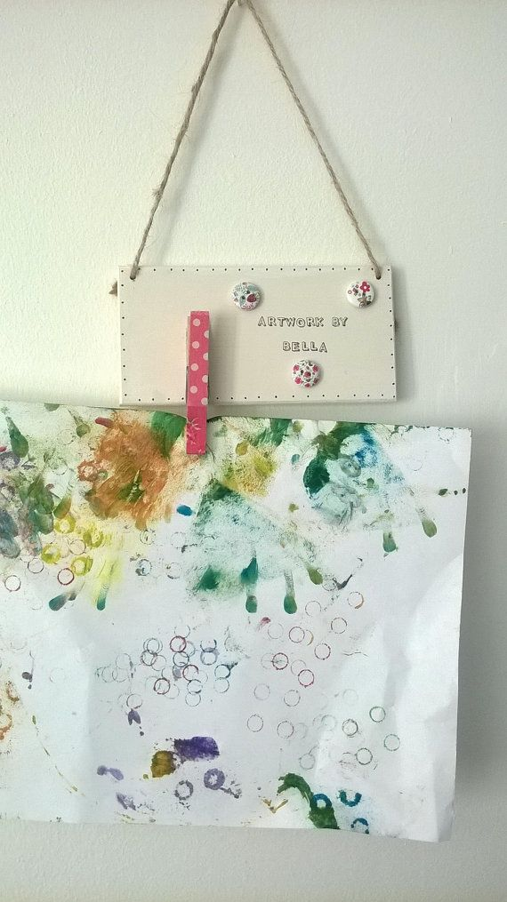 Personalised Children's Peg Art Hanger for by Windovertide