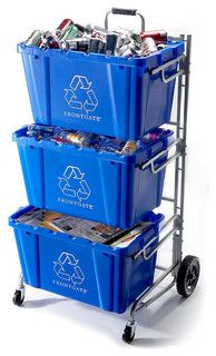 WANT!  Recycling Bin Cart - traditional - waste baskets - by FRONTGATE