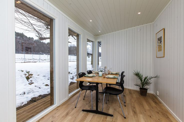 Anneks til hagestue eller hjemmekontor med plass til møter