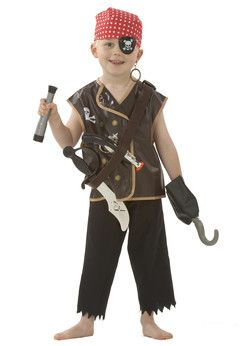 Elite Operations Pirate Dress Up Costume Dressing up clothes for hours of fun! This dress-up set contains everything you need for lots of pirating adventures. Includes Pirates waistcoat, headscarf, eyepatch, earring, hook, sword, gun and tel http://www.comparestoreprices.co.uk/childs-toys/elite-operations-pirate-dress-up-costume.asp