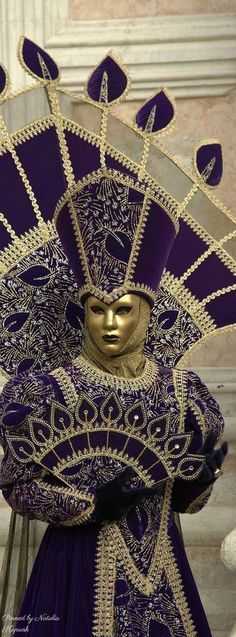 Traditional Venetian Costume/Mask for the Carnevale di Venezia (Venice, Italy)