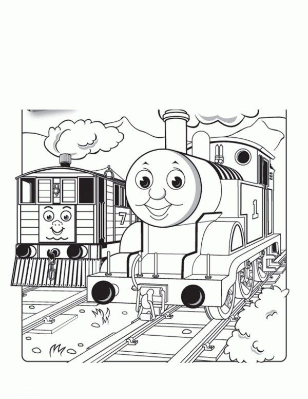 34 best coloring pages images on Pinterest | Train, Trains and Colouring