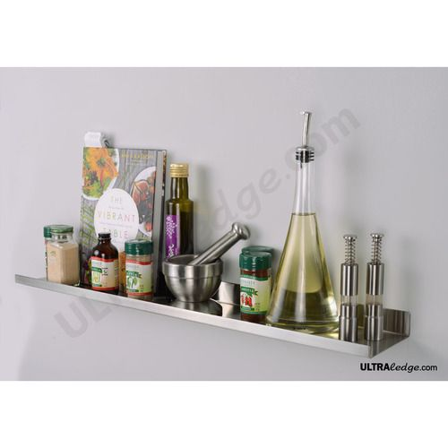 30inch long and 5inch deep stainless steel metal over the range shelf, floating wall shelve, spice rack, range shelf, stove shelf, picture rail,
