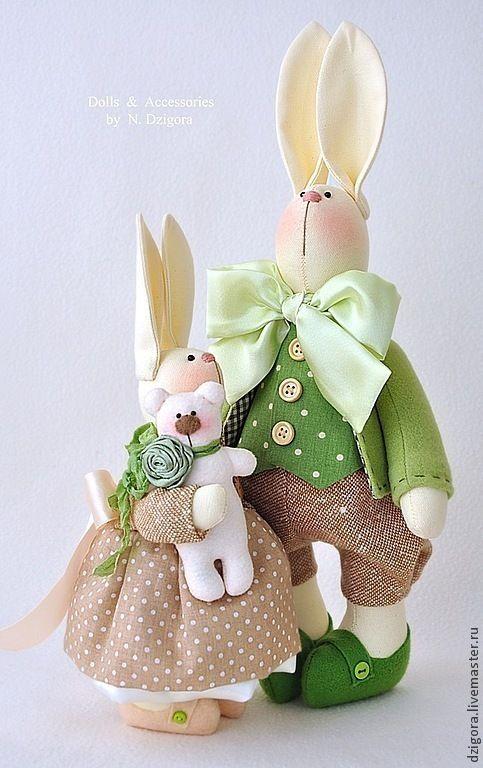 Купить Семейство кроликов - зайцы, семейство заек, семейство зайцев, кролики, кролик, игрушка заяц