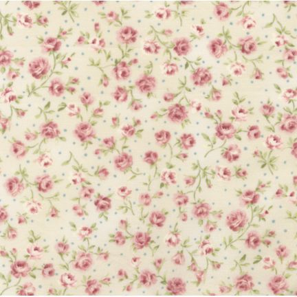 Vintage Wallpaper Pink Cute Flowers Swirly Pattern