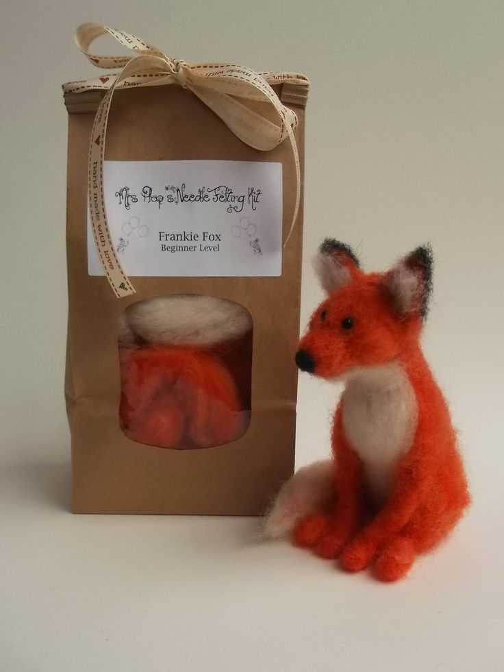 Love, Mrs Plop: Mrs Plop's Needle Felting Kit for Beginners - Make your own 'Frankie Fox'!