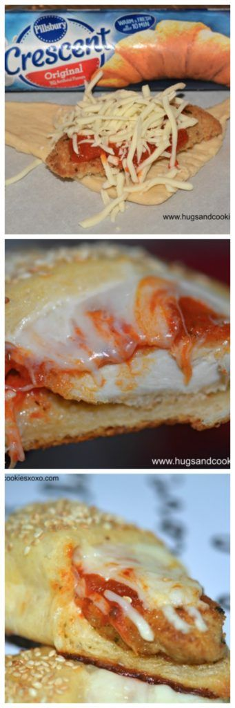 Chicken Parm Crescents - Hugs and Cookies XOXO