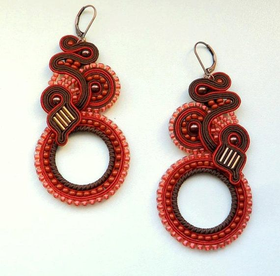 Soutache earrings! Incredible! ;)