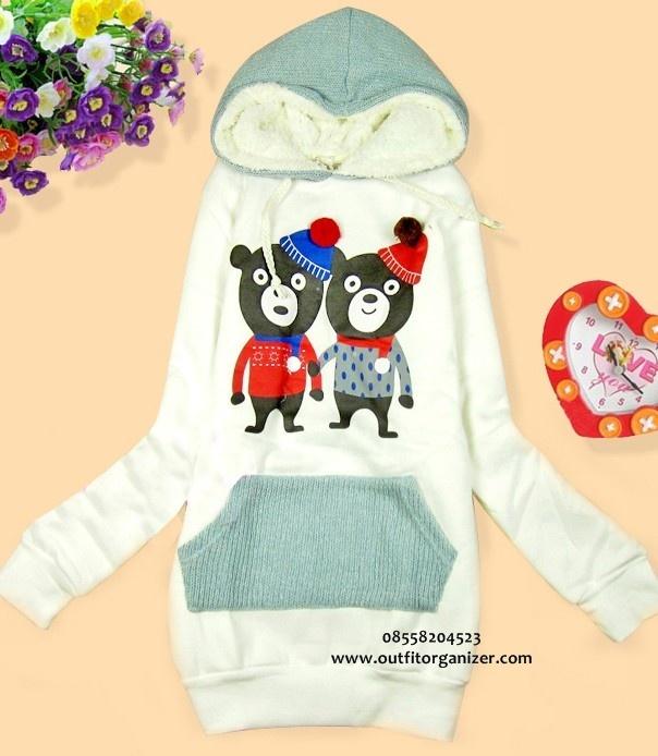 Twin Bear Sweater Jaket Hoodie - IDR 140.000 | outfitorganizer.com 08558204523