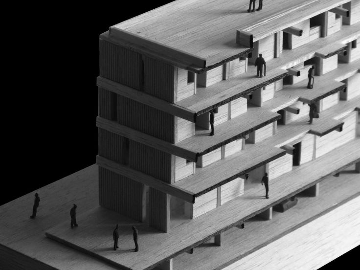 Model architecture student old people home.  DQ Arq.