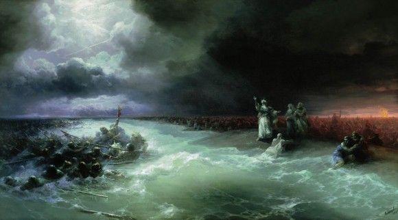 Переход евреев через Красное море - Иван Айвазовский