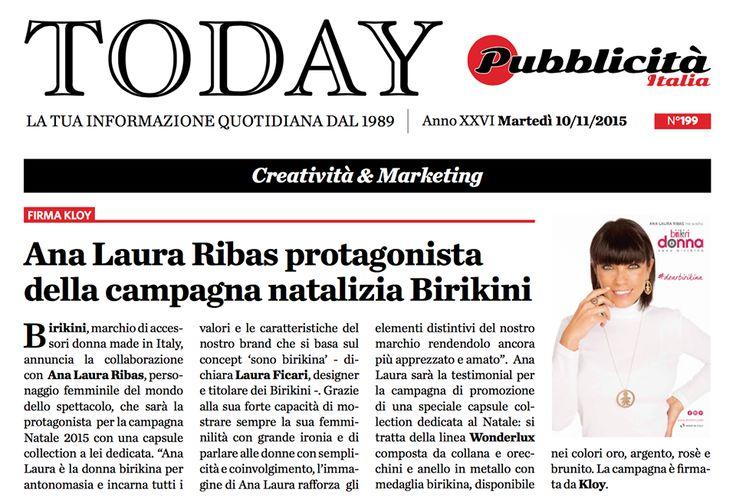 L'importante quotidiano Pubblicità Italia parla della collaborazione tra #birikini e Ana Laura Ribas! #sonobirikina #birikinidonna #rivenditoribirikini