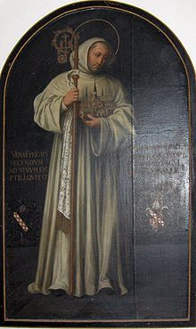 St. Bernard of Clairvaux, abbot and Doctor of the Church. this amazing man began the great reform of the Cistercian order, and through his influence all 5 of his brothers, as well as his father and several of his uncles joined the Order. in addition, his sister entered a Benedictine convent. he's pretty awesome.