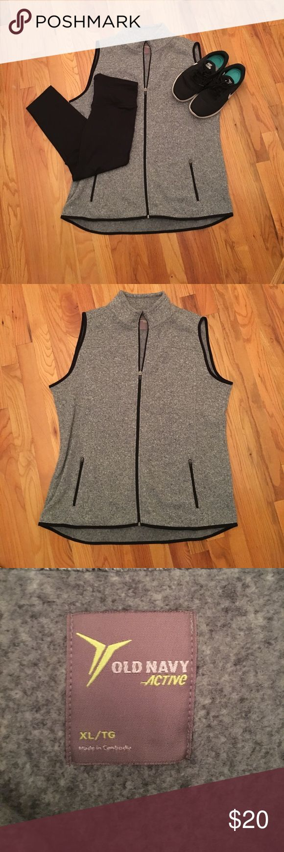 XL Old Navy Active vest XL Old Navy Active vest. Has two front pockets. Great for the approaching cold weather and trying to stay active! Old Navy Jackets & Coats Vests