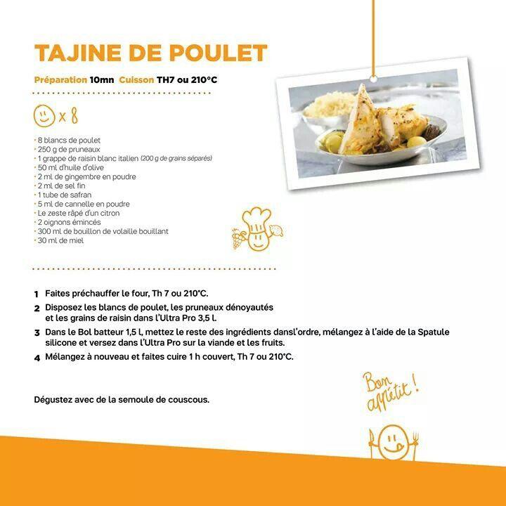 Tajine de poulet | Recettes | Pinterest | Tupperware