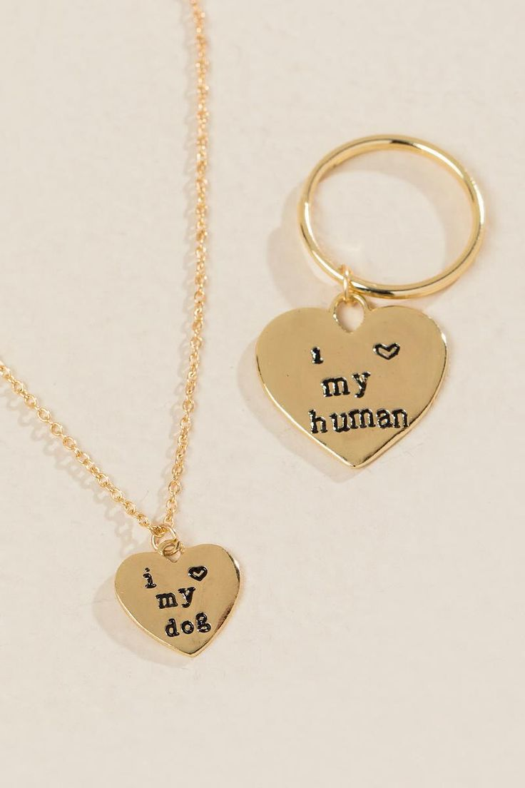 Dog and Human Friendship Set- Gold alternate2