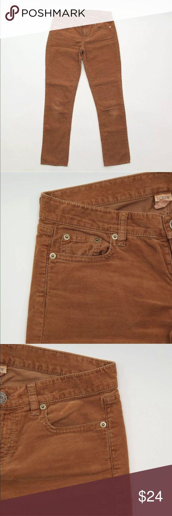 "J Crew 2 Short Vintage Matchstick Skinny Corduroy J Crew  Womens Pants  Size 2 Short 26S Vintage Matchstick  Skinny Corduroy  Brown  City Fit 29"" inseam 15"" across waist J. Crew Pants Skinny"