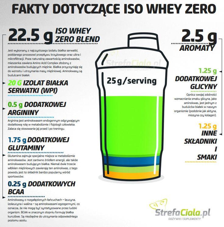 Iso Whey Zero - maksymalnie czysty proszek proteinowy - zero węglowodanów, zero tłuszczu I zero dodatkowych cukrów. BCAA w proszku w stosunku 2:1:1, bez węglowodanów, smakowe, zawartość 6,000 mg BCAA i witaminy B6 w jednej dawce. #biotech #strefaciala.pl #shaker #protein