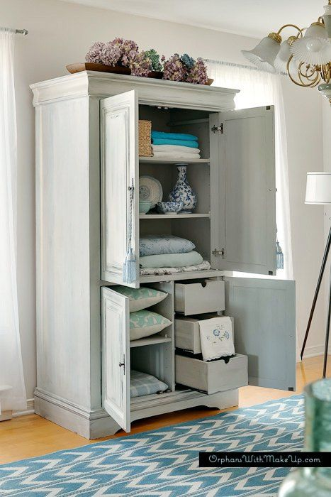 Upcycled Media Cabinet Into Armoire