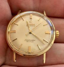 CLEAN Vintage Solid 14K Gold Omega Seamaster DeVille Mens Watch Running