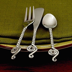 Flatware world market and cocktails on pinterest - Treble clef silverware ...