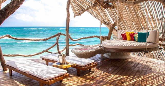 Azulik hotel in Tulum is considered one of the best hotels with a beautiful beach. We are gay friendly hotel and clothing optional. Best Tulum hotels.