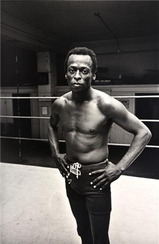 A fighting fit Miles Davis by Jim Marshall