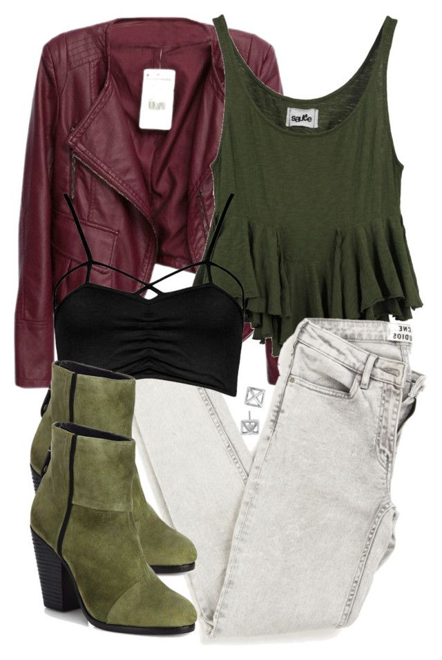 """""""Cora Inspired Outfit"""" by veterization ❤ liked on Polyvore featuring Sauce, Boohoo, rag & bone and Rebecca Minkoff"""