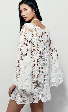 FREE crochet pattern for FREE PEOPLE boho dress