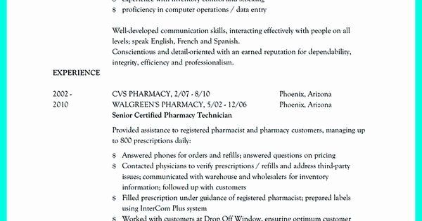 Certified Pharmacy Technician Resume Awesome 12 Best Resume Sample Images On Pinterest In 2020 Pharmacy Technician Job Resume Samples Pharmacy