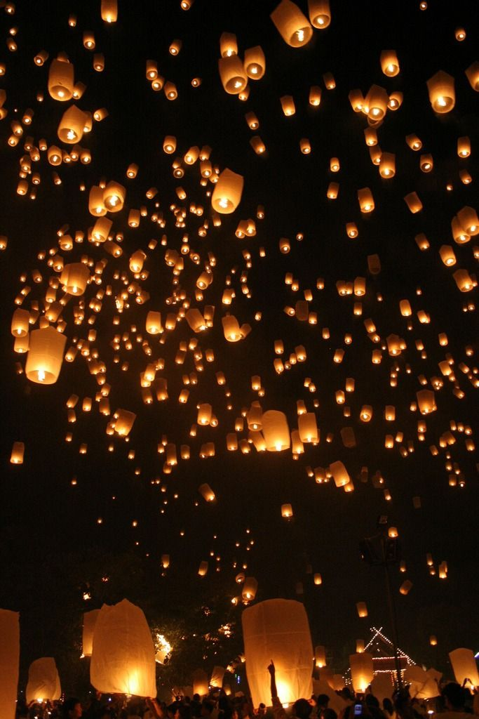 Loi Kratong (Lantern) Festival, Chiang Mai, Thailand (by Slaps) lanterns