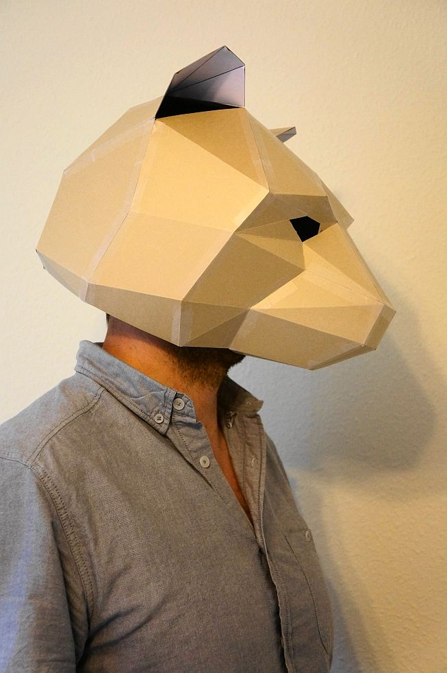 bear mask | Origami and paper craft | Pinterest | Shops ...