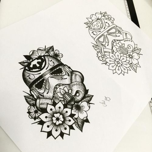 Stormtrooper Tattoo Outline Traditional stormtrooper tattoo stuff ...