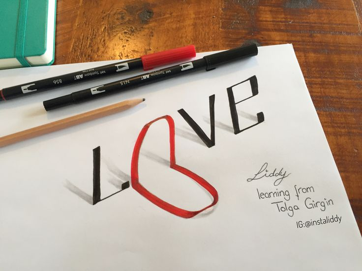 Love, 3D lettering, learning from original artist