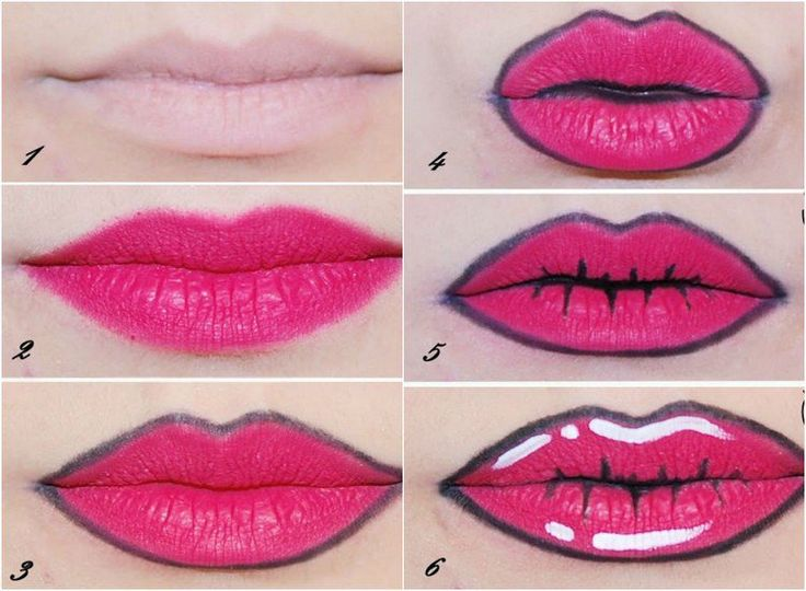 maquillage Halloween lèvres avec imitation d'un grillage barbelé