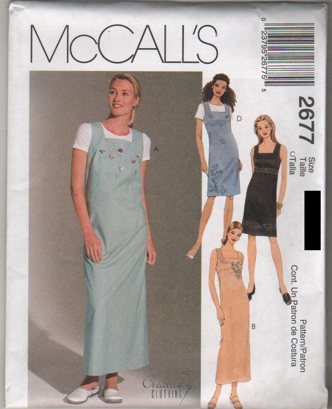 *2677 Sewing Pattern Ladies Jumper Dress size 6-8-10