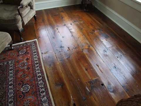 beautiful wide plank wood flooring
