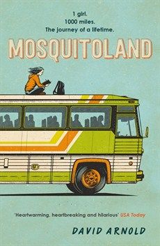 Mosquitoland / David Arnold. When her parents unexpectedly divorce, Mim Malone is dragged from her beloved home in Ohio to the 'wastelands' of Mississippi, where she lives in a haze of medication with her dad and new (almost certainly evil) stepmom. But when Mim learns her real mother is ill back home, she escapes her new life and embarks on a rescue mission aboard a Greyhound bus, meeting an assortment of quirky characters along the way.