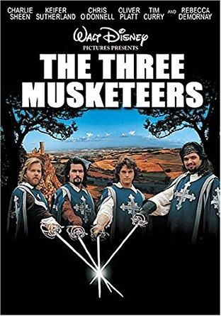 The Three Musketeers (1993 / DVD) Charlie Sheen, Kiefer Sutherland, Chris O'Donnell, Oliver Platt, Tim Curry
